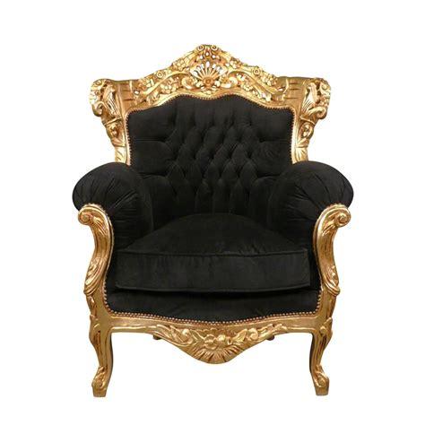 black armchair baroque velvet and gilded baroque furniture