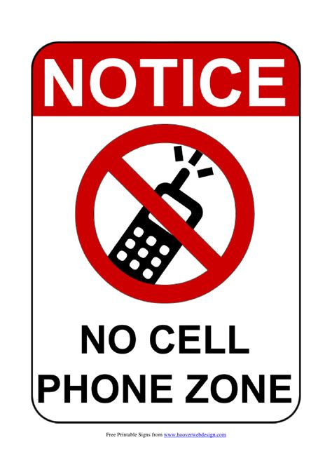 mobile phone signs poster template