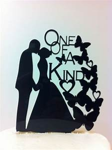 Silhouette One Of A Kind Butterflies Bride Groom Kissing