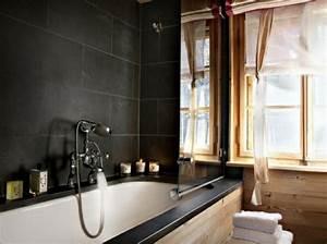 15 inspirations pour une salle de bain en noir et blanc With salle de bain noir et bois