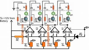 3 Simple Battery Voltage Monitor Circuits