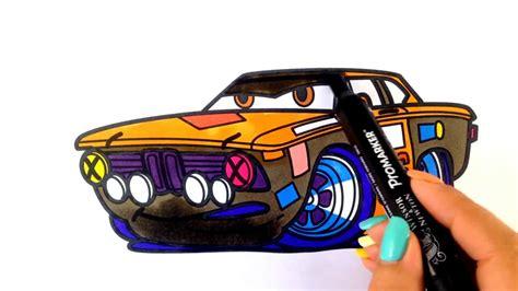 How To Draw A Car. Bmw 2002 Super Fast Racing Car (cartoon