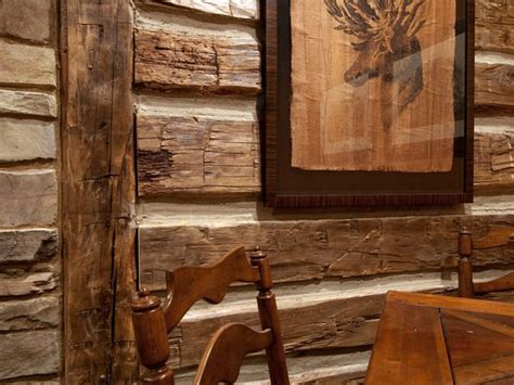 faux log cabin walls cave from diy network cabin 2009 ideas for the