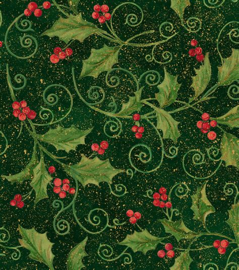 holiday inspirations fabric holly vine scroll jo ann