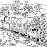Train Coloring Thomas Engine Tank Diesel Printable Steam Railway Salty Drawing Dockyard Children Adult Station Printables Mercerepc sketch template
