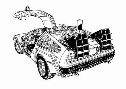 Delorean Future Behance Bttf Illustrations Marzini Eps