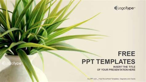 fresh plant nature powerpoint templates