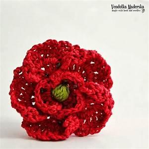 Button Poppy Free Crochet Pattern Knitting Crochet Flowers Pinterest