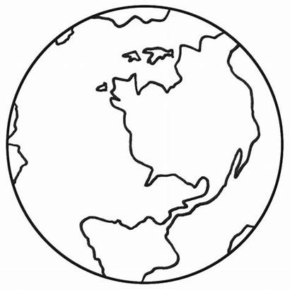 Earth Coloring Pages Globe Drawing Preschool Planet