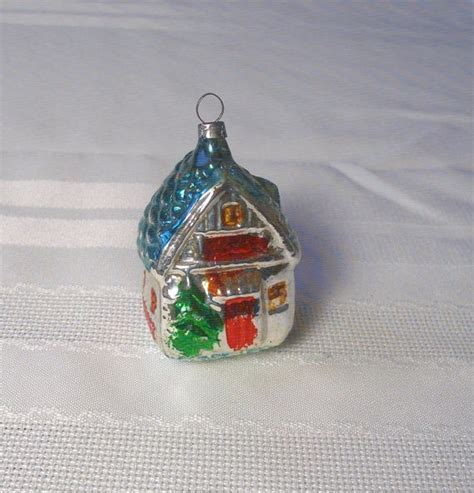 vintage house ornament antique german blown glass