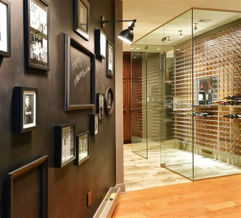 temperature controlled glass wine cellars