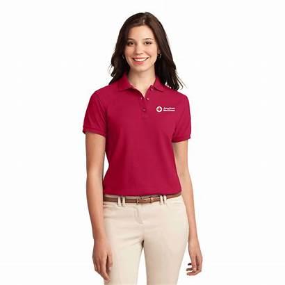 Polo Cotton Apparel Shirts Ladies Cross
