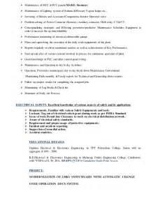 electrical maintenance engineer resume pdf resume electrical o m engineer