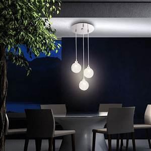 Deckenlampe 3 Flammig : deckenlampe h ngeleuchte 3 flammig pendelleuchte glaskugeln beleuchtung leuchte ebay ~ Whattoseeinmadrid.com Haus und Dekorationen