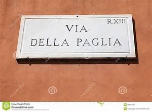 Plaque De Rue Personnalisée Extérieur : plaque de rue de rome image stock image du ext rieur 68853101 ~ Dode.kayakingforconservation.com Idées de Décoration
