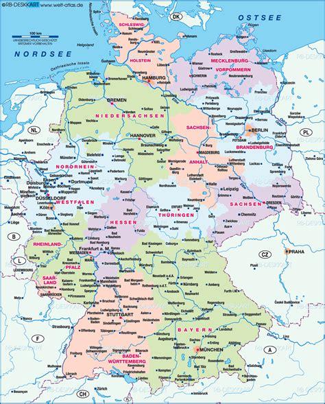 karte von deutschland uebersicht land staat welt