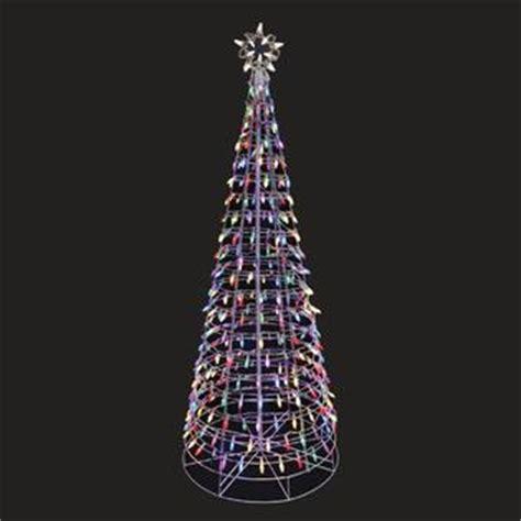 multi colored light metal christmas tree lawn ornament