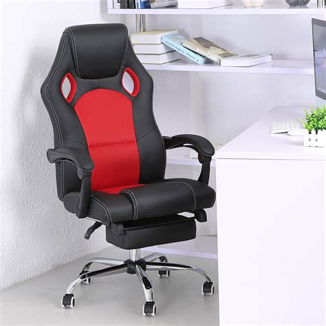 chair with footrest executive office chair ergonomic high back reclining 4353