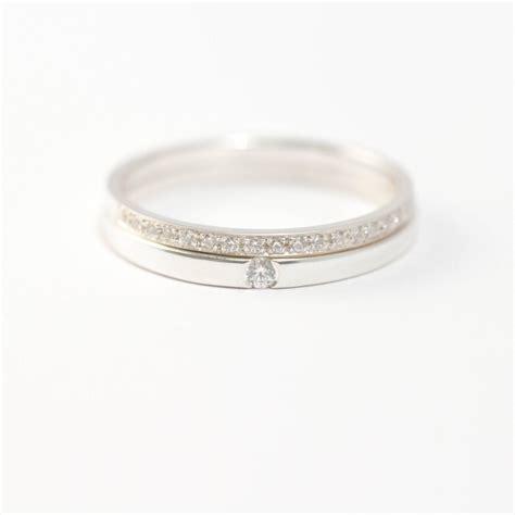 bague mariage or blanc alliances en or blanc sertie de 19 diamants bague de