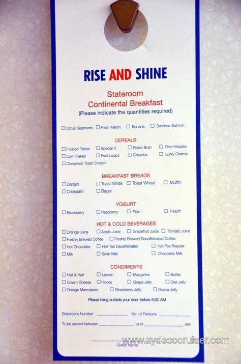 Home about menu team buy wholesale. Carnival Door Hanger Continental Breakfast Menu | Continental breakfast menu, Carnival liberty ...