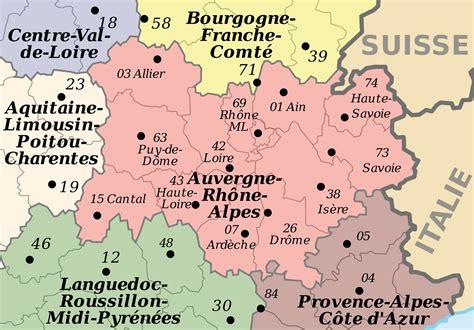 Carte De Region Et Departement Et Chef Lieu by Info Carte Auvergne Departements