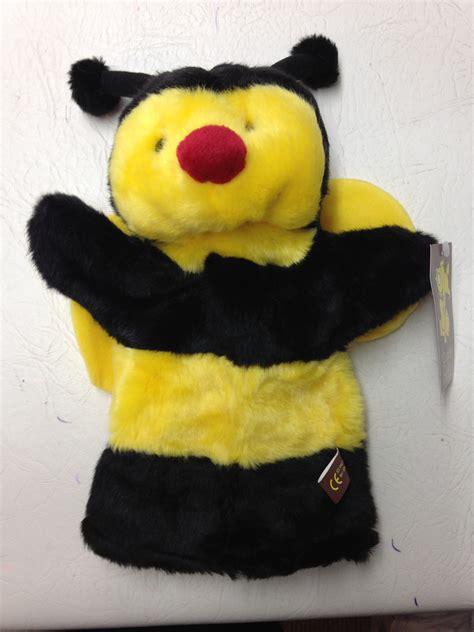 cuddly bee hand puppet bj sherriff