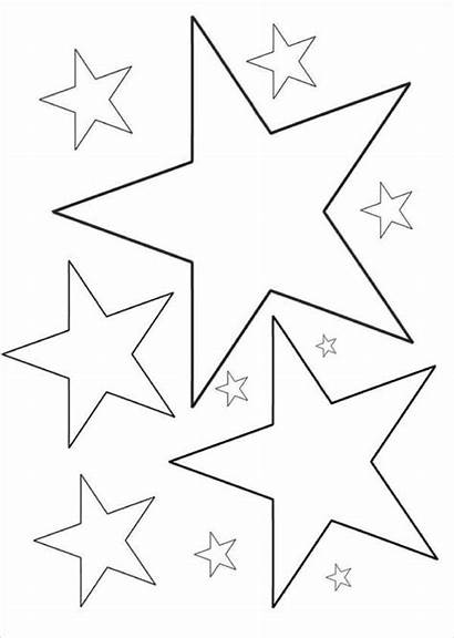 Coloring Star Pages Printable Stars Template Colouring