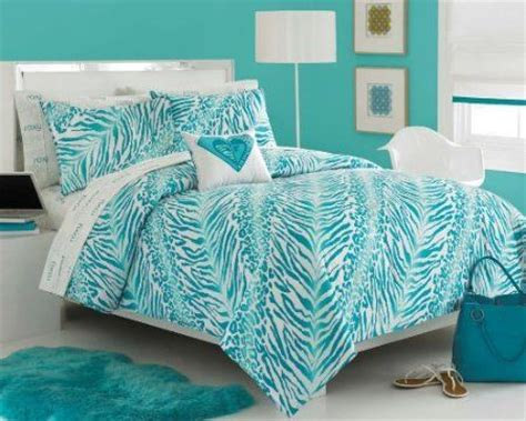 amazon com roxy aqua teal zebra teen girls comforter set