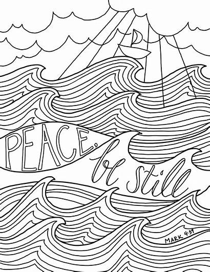 Coloring Peace Bible Pages Still