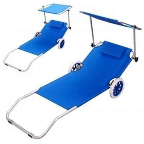 chaise de plage pas cher chaise longue avec ombrelle transat sur roulettes pour