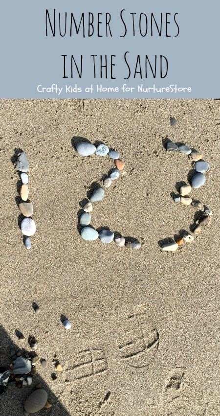 number stones math activity   beach nurturestore