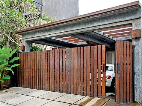 model garasi mobil minimalis desain mewah sederhana
