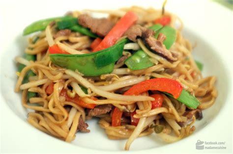 norbert cuisine gebratene nudeln mit rind asiatisch madame cuisine