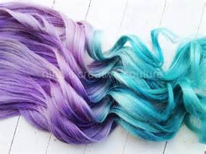 Green to Blue Ombre Hair Extensions