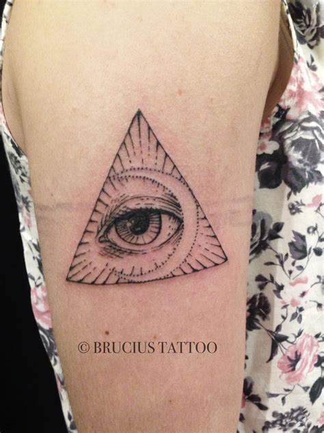 eye triangle crescent moon tattoo ink inspiration tattoos body art body