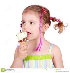 Ice Cream Face Little Girl