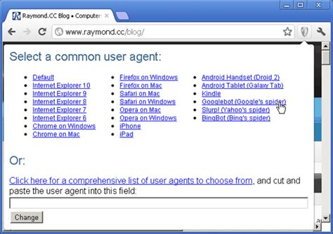agent user cloaked viewing hidden contents links raymond cc switcher forums