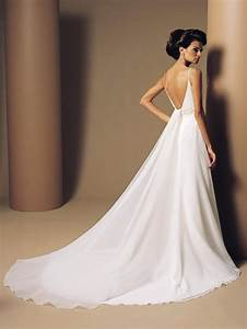 the sexiest backless chiffon wedding dresses cherry marry With spaghetti strap backless wedding dress