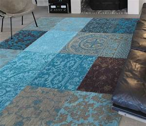 vintage patchwork turquoise 8105 louis de poortere store With tapis vintage patchwork