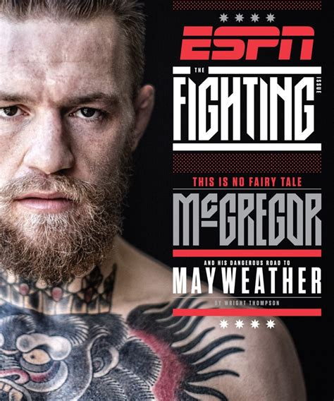 conor mcgregor fronts special  fighting issue  espn