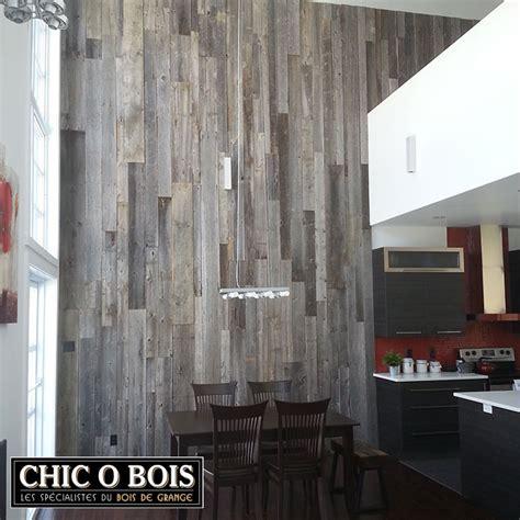 accessoire cuisine réalisations de mur en bois de grange