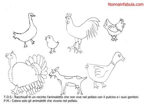 Animali Da Cortile Da Colorare by Progetto Storia Pulcino Nonna In Fabula
