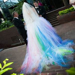 Online get cheap multi colored wedding dresses aliexpress for Multi colored wedding dresses