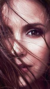 hb38-wallpaper-nina-dobrev-face-film-star - Papers co
