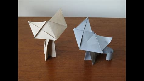 fluffy origami cat instructions youtube