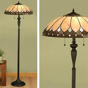 Brooklyn floor lamp art deco floor lamp t048f tiffany style for Tiffany inspired floor lamp