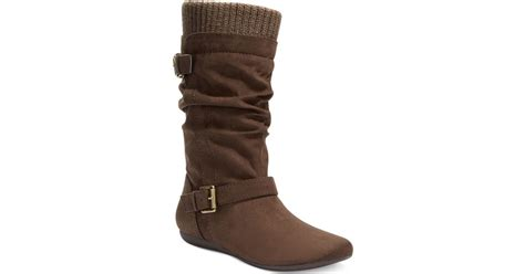 Report Everton Slouchy Sweater Boots In Brown