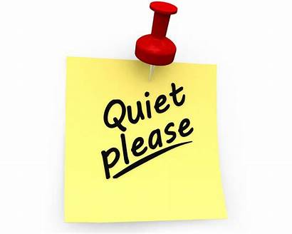 Quiet Please Note Sticky Slide Powerpoint Graphics