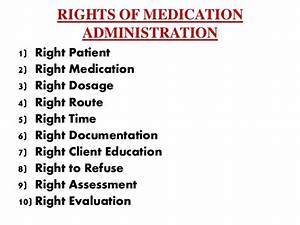 drug administration With 6 rights of medication