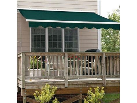 aleko retractable awning ft  ft    green